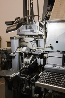 Electronic newsletters are easier to set up than this printing press (photo credit: Dennis Irrgang)