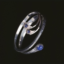 Silver and lapis bracelet by AlleeB's jewelry.
