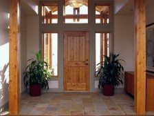 A custom entryway designed by Swanson Construction.