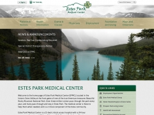 The new Estes Park Medical Center website.
