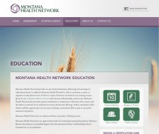 Montana Health Network's Custom Website