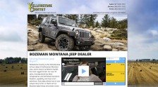 Yellowstone Country Motors Landing Page