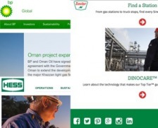 BP and Sinclair hint at environmentalism with a green palate.
