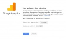 Data Retention settings page