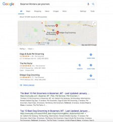 The top three local spot in Google will appear like so.