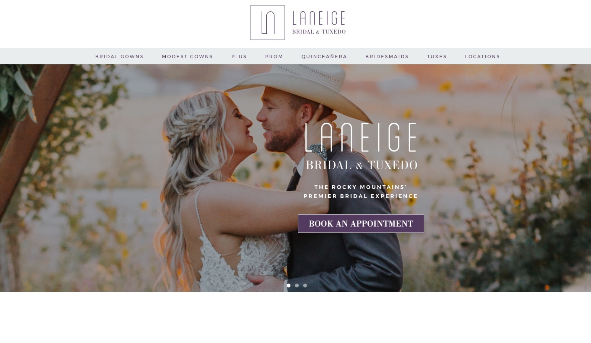New Website for LaNeige Bridal & Tuxedo