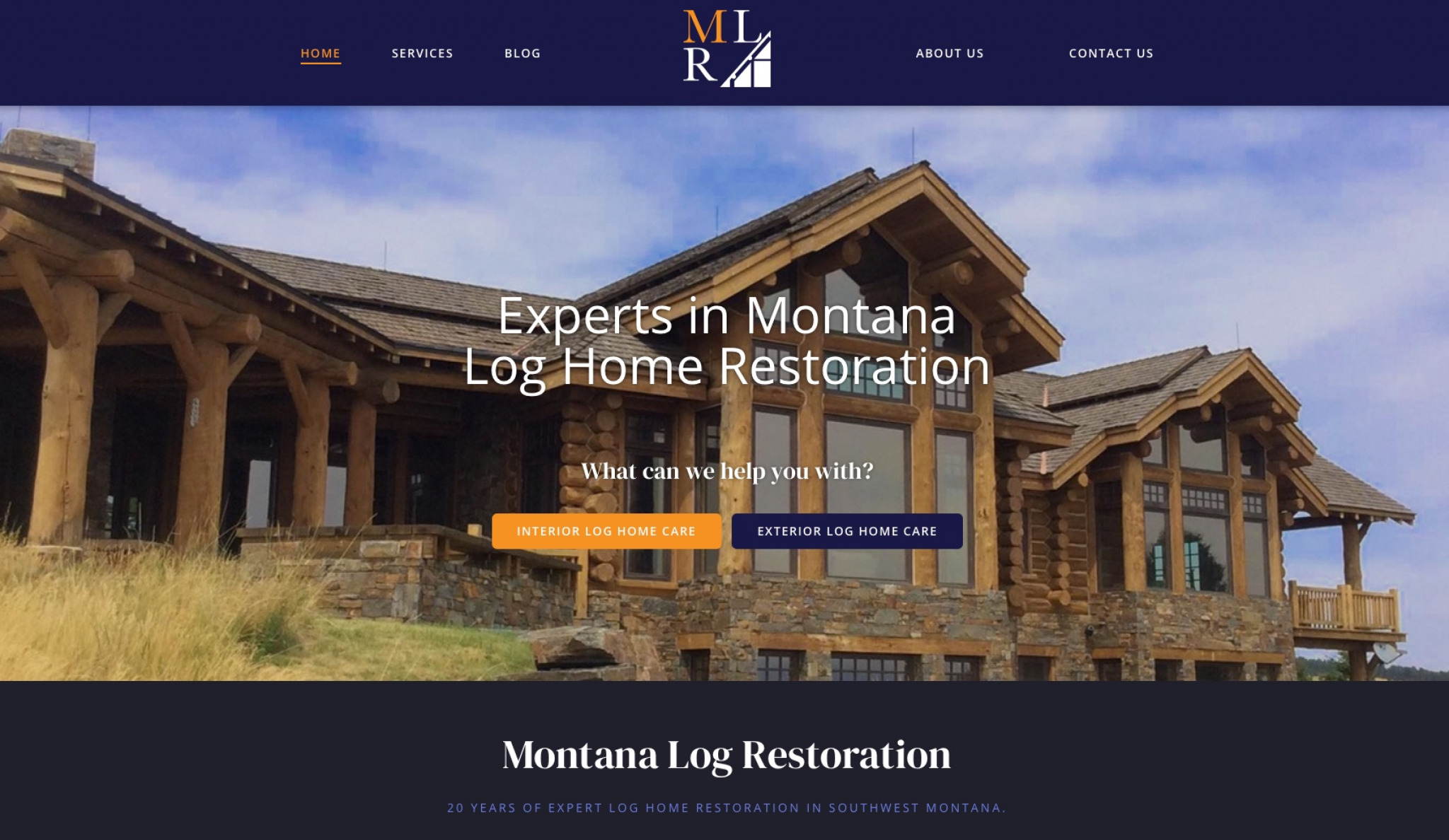 montana log restoration homepage