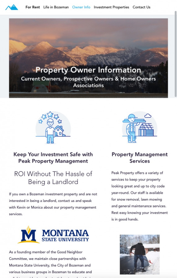 Peak Property Contact Form