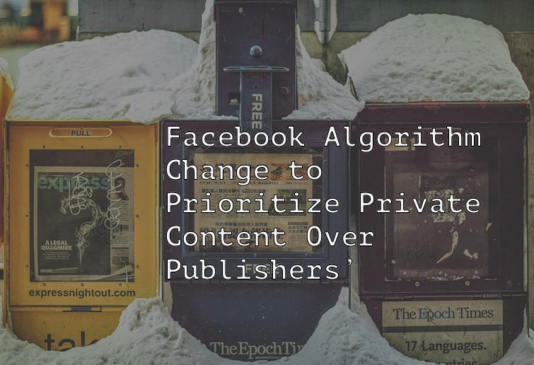Facebook changes algorithm.