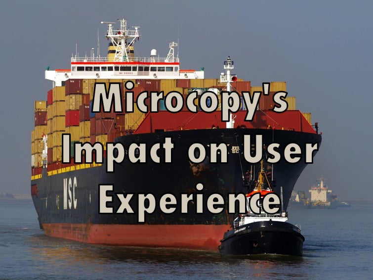 microcopy impacts user experience.