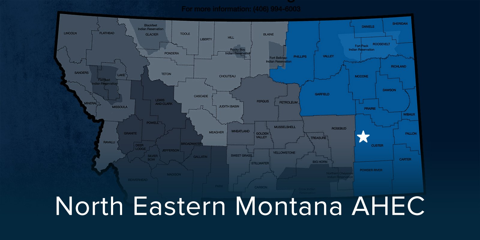 North Eastern Montana AHEC Map