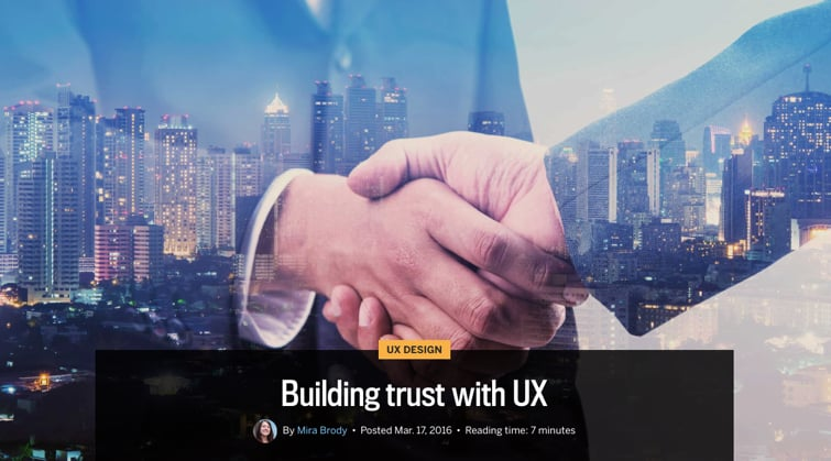 Building Trust with UX.