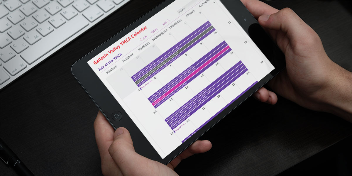 YMCA Interactive Calendar