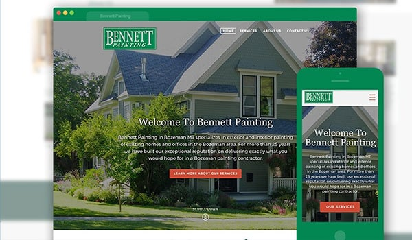 Bennett Painting get a new website.