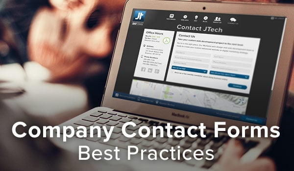 Online contact forms: best practices