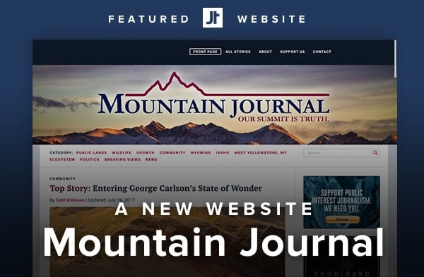 Mountain Journal's new website.