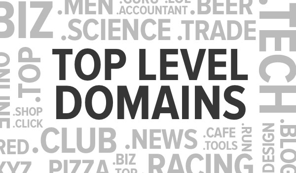 an update on top level domains.