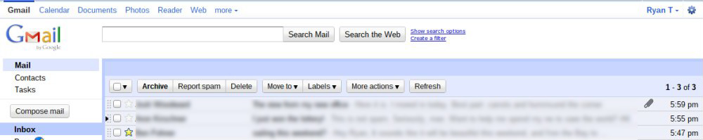 Gmail Layout, Early 2011