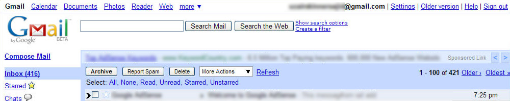 Gmail's Legacy Layout