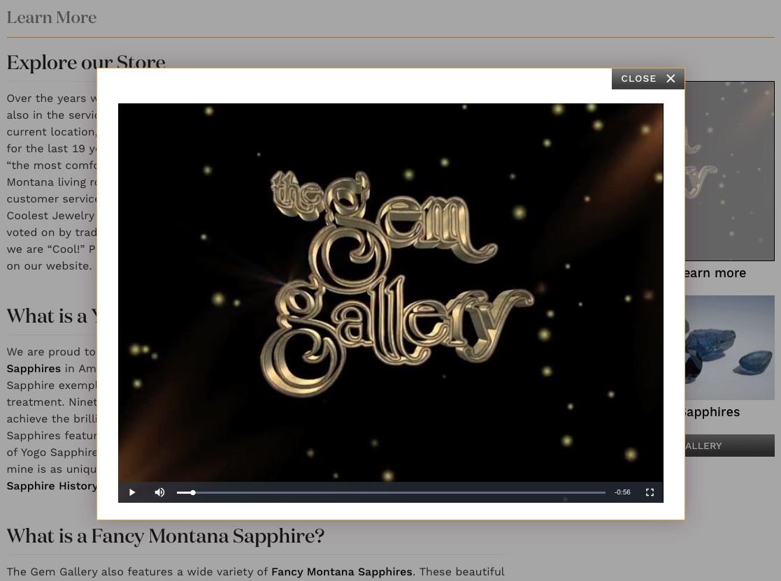 Gem Gallery video slip.