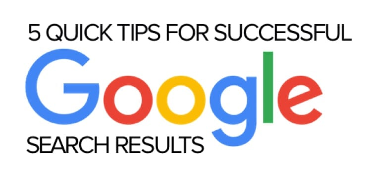 search tips for Google.